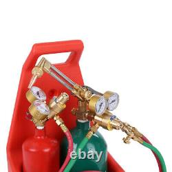 12FT Professional Tote Oxygen AND Acetylene Oxy Welding Cutting Torch Kit NO DOT