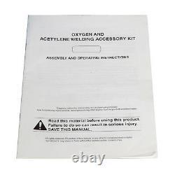 15 PCS Gas Welding & Cutting Kit with Case Oxygen Torch Acetylene Welder Tool Set