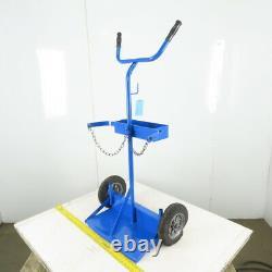 2 Wheel Welding Dual Cylinder Cutting Torch Dolly Truck Cart