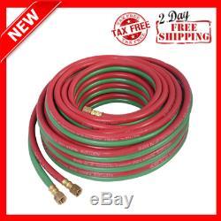 50 Feet Twin Welding Torch Hose Oxy Acetylene Oxygen Cutting 1/4-Inch 300psi