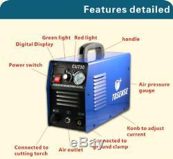 50A Inverter DIGITAL Air Plasma Cutting Machine CUT-50 Dual Voltage 240V & torch