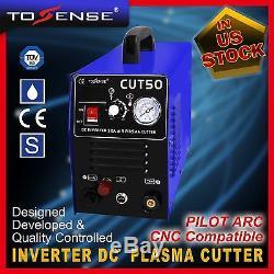 50A Plasma Cutter Pilot Arc110/220V CNC Compatible + torches +80pcs consumables