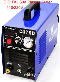 50A plasma cutter & PT31 cutting torch & consumables & 1-14mm cut thick NEW