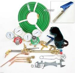 ACETYLENE & OXYGEN WELDING CUTTING OUTFIT TORCH SET GAS WELDER KIT with15FT HOSES