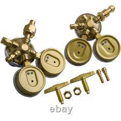 Acetylene Oxygen Gas Welding Regulator Solid Brass Set Fit Victor Torch Cutting