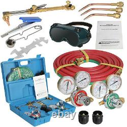 Acetylene Oxygen Weld Welding Cutting Torch Kit withGauges & Goggles & Hoses