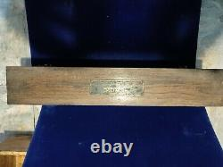 Antique PUROX Brass Cutting Welding Torch Kit With Dovetail Oak Box