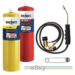 Bernzomatic Cutting Welding Brazing Kit, with Oxygen mapp, Torch & Accesories