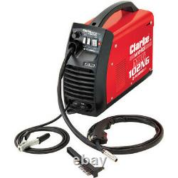 Clarke Gasless MIG Welder 90A Welding Machine Package Torch Mask Wire 4MM Cut