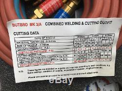GCE BUTBRO MK3A Welding & Cutting Set Oxy Acetylene Torch Cutter Kit