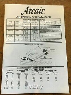 GENUINE Arcair H-3 Air CARBON ARC Slice Gouging Cutting Torch SWIVEL Hose KIT
