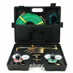 Gas Cutting Welding Torch Kit Oxygen Acetylene & Hose Set Regulator Victor Type