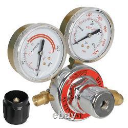 Gas Welding & Cutting Kit Acetylene Oxygen Torch Regulator with 3 Nozzles & Case