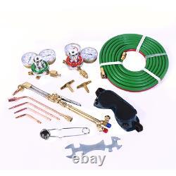 Gas Welding Cutting Kit Set Oxy Acetylene Oxygen Torch Brazing Fits VICTOR Hose