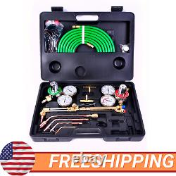 Gas Welding Cutting Kit Torch Brazing Fits Oxy Acetylene Oxygen VICTOR WithHose