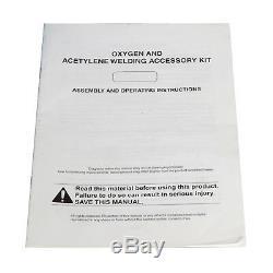 Gas Welding Cutting Welder Kit Oxy Acetylene Oxygen Torch w 15'Hose Plastic Case