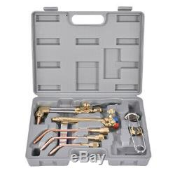 Gas Welding Set Oxygen Acetylene Kit Oxy Torch Cutting Heating Tip Cleaner Case
