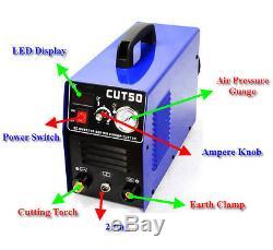 HQ Plasma Cutter 50A cut50 & Cutting Torch +Consmables HF Start 1-14mm 60% Duty