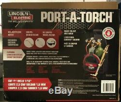 Lincoln Electric Port-A-Torch 1 Cut/1/16 Weld Oxy-Acetylene Outfit KH990 NEW