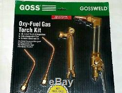 NEW GOSS VICTOR Type Cutting Welding Torch Set Outfit Regulator Tips Hose Kit