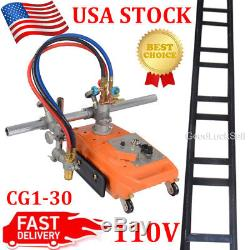 NEW Torch Track Burner CG1-30 Gas Cutting Machine Cutter with Rail Track US FAST