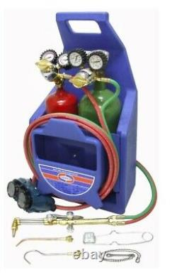 NEW - UNIWELD KL22P-TU Welding and Cutting Torch Kit With Tanks