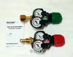NEW VICTOR EDGE ESS3 Regulator Set 2.0 Oxygen Acetylene Cutting Welding Torch