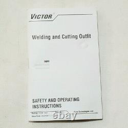 NEW VICTOR SST1001FC Angle Head Cutting Torch 18 Tip Demolition Scrap Welding
