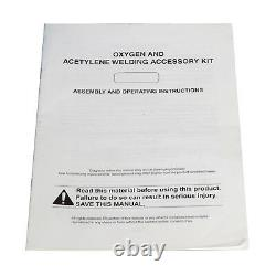 New Gas Welding Cutting Kit Oxy Acetylene Oxygen Torch Brazing w Free 3 Nozzles