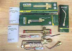 New Victor Journeyman Cutting Welding Torch Set CA2460+, 315FC+, brazing, 2 Tips