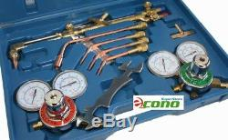 OXYGEN & ACETYLENE WELDING CUTTING OUTFIT TORCH SET GAS WELDER KIT with15FT HOSES