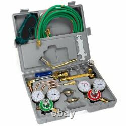OXYGEN ACETYLENE WELDING CUTTING TORCH KIT TYPE WithGAGGLES TIPE BURNER