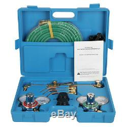 Oxy Acetylene Welding Cutting Torch Kit Gas Welder Set +15ft Hose Goggles Case