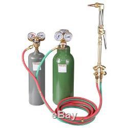 Oxygen Acetylene Torch Kit with Hose Tank Regulators for Cutting Welding Brazing