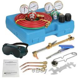 Oxygen Acetylene Type Gas Welding & Cutting Set Oxy Torch Welder w Carrying