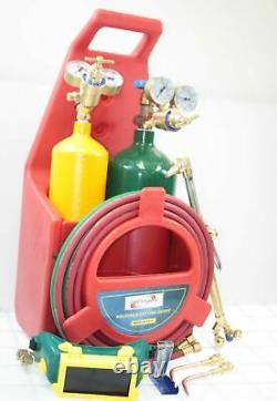 Oxygen Acetylene Weld Welding Cutting Torch Kit withGauges & 2 Tanks & hoses