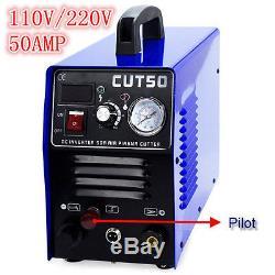 Plasma Cutters CUT50 Pilot Arc 60% 110/220V CNC PLASMA Compatible & WSD60P Torch