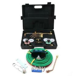 Portable Gas Welding Cutting Machine Kit Oxygen Acetylene Cutting Torch WithCase