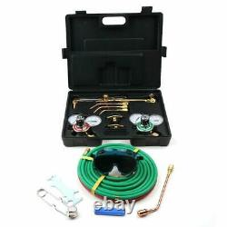 Portable Professional Welding & Cutting Kit Oxygen Torch with Black Case US
