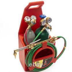 Portable Professional Welding Cutting Weld Torch Tank Kit Oxygen Acetylene