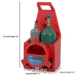 Portable Twin Tote Style Oxygen Acetylene Tank Welding Cutting Torch Starter Set