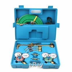 Portable Welding & Cutting Kit Acetylene Oxygen Torch Set Regulator with 3 Nozzles