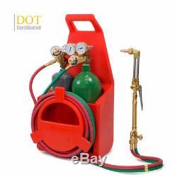 Portable twin tote Oxygen Acetylene Oxy gas Welding Cutting Weld