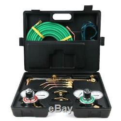 Professional Gas Welding And Cutting Kit Acetylene Pressure Torch Set Regulator