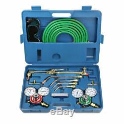 Professional Gas Welding & Cutting Kit Propane Oxygen Torch Set Regulator -US