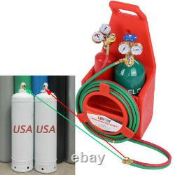 Professional Portable Oxygen Acetylene Oxy Welding Cutting Torch Kit WithGas Tank
