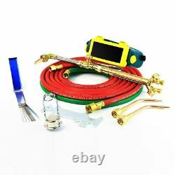 Professional Portable Oxygen Acetylene Oxy Welding Cutting Torch Kit WithGasTank