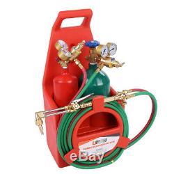 Professional Portable Oxygen Acetylene Oxy Welding Cutting Weld Torch Tank KitUS