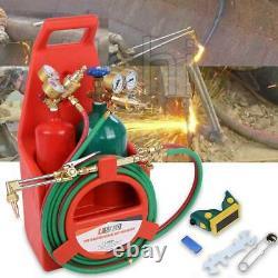 Professional Portable Welding Cutting Weld Oxygen Acetylene Torch Tank Kit