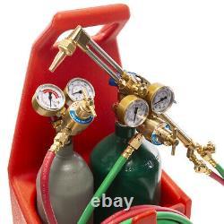 Professional Portable Welding Cutting Weld Oxygen Acetylene Torch Tank Kit USA